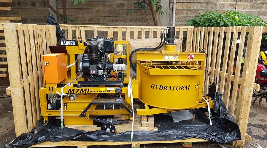 The Hydraform machine was bought from South Africa and delivered in April 2018
